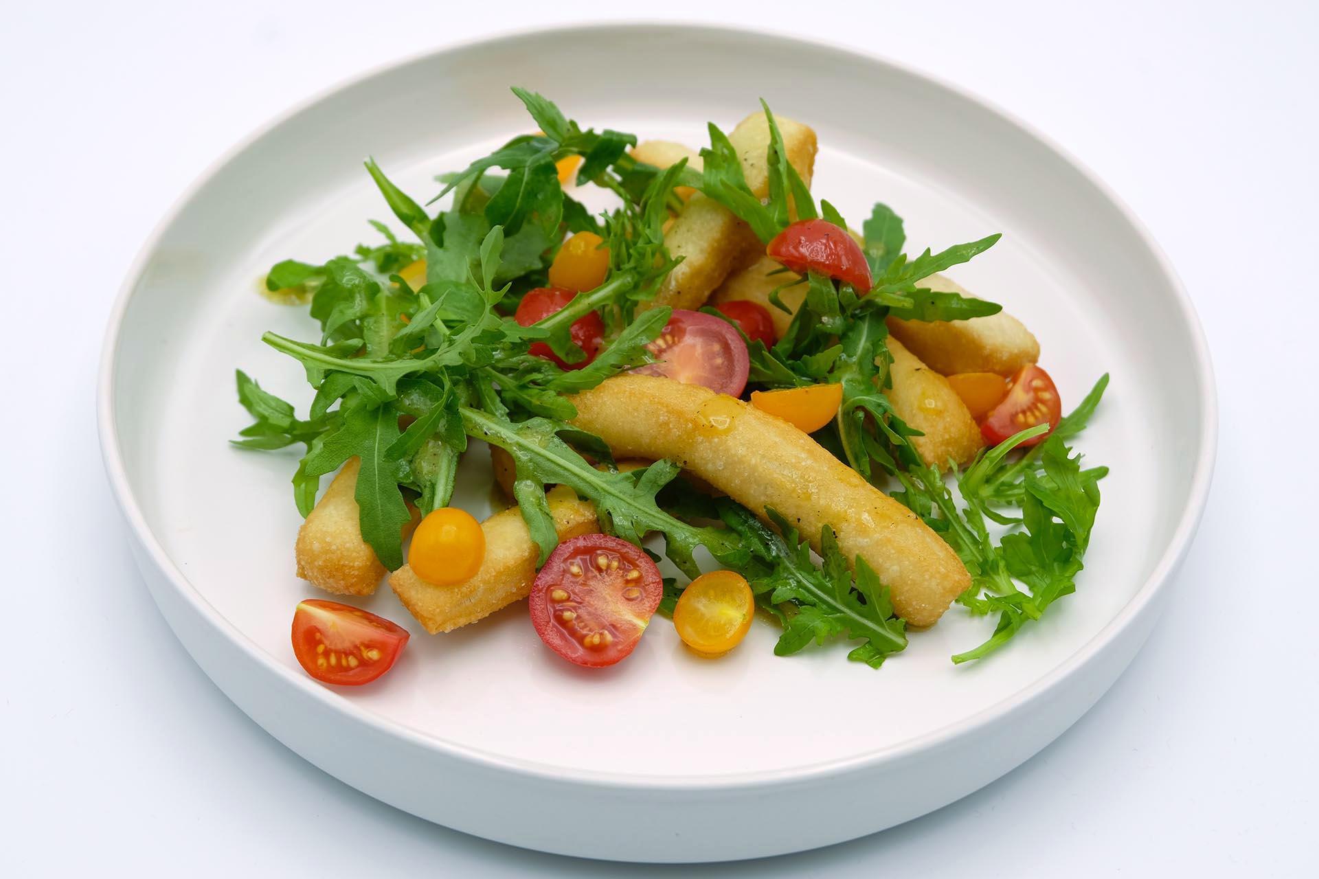 Rezept Angioletti fritti mit Rucola und Tomaten Popfood